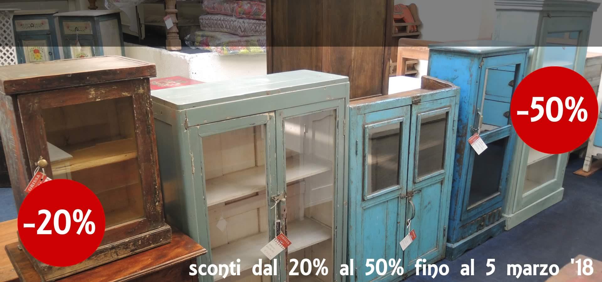 Mobili coloniali arredamento shabby chic etnico on line for Sconti mobili