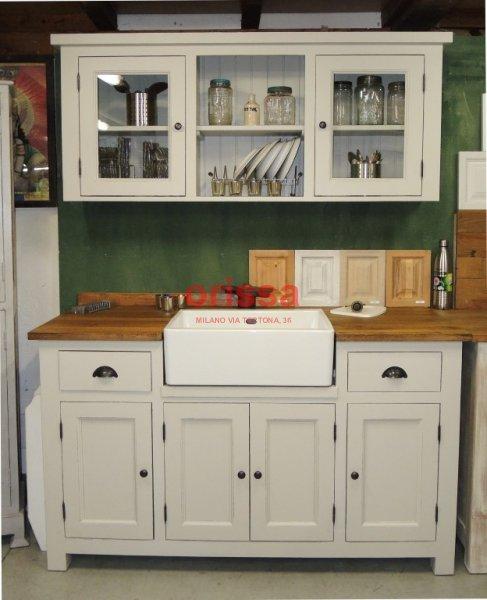 Cucina modulare in legno massello shabby chic e provenzale ORISSA ...