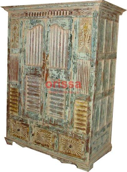 Affordable mobile antico indiano colorato mobili etnici - Colorare i mobili ...