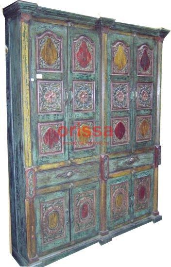 Mobili etnici indiani arredamento etnico indonesiano pezzi unici indiani orissa milano - Pomelli colorati per mobili ...
