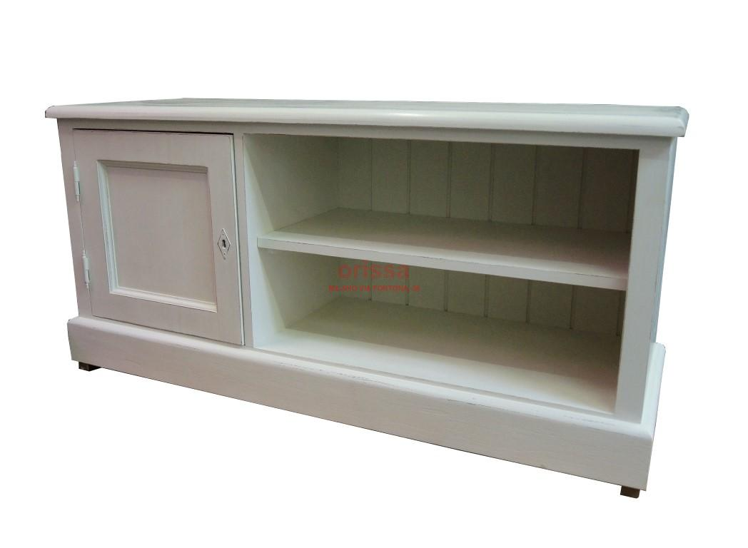 Porta tv bianco decapato ms419 orissa milano - Porta tv bianco ...