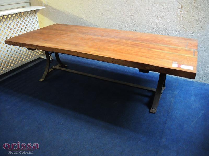 Tavolo salotto in legno e ferro | CX032 | ORISSA Milano