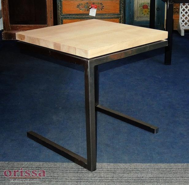 Tavolino ferro e legno cx033 orissa milano - Tavoli in legno e ferro ...