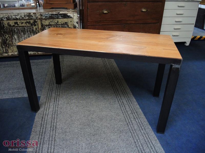 Tavolo salotto legno e ferro battutto | CX034 | ORISSA Milano