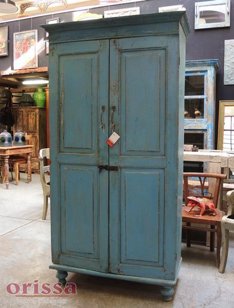 Armadio azzurro legno massello | CX039 | ORISSA Milano