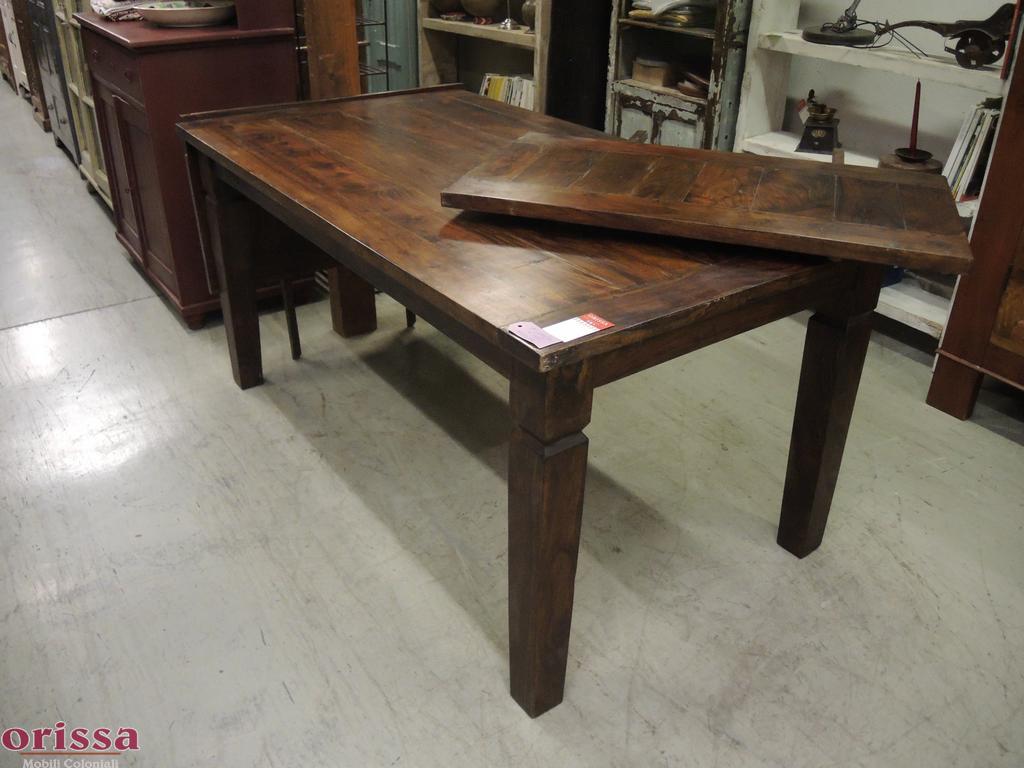 Tavolo legno allungabile 160 260cm cx047 orissa milano - Tavolo legno massello ...