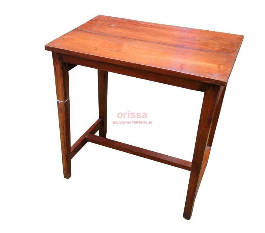 Piccola scrivania in teak d0904 orissa milano for Scrivania piccola