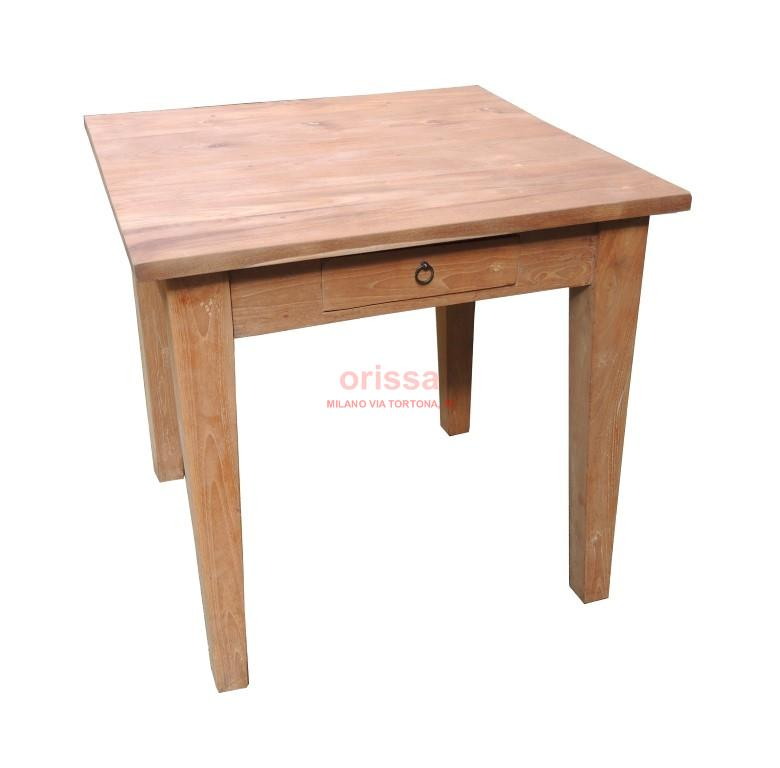 Tavolo legno di teak indonesiano d0905 orissa milano - Tavolo quadrato legno ...