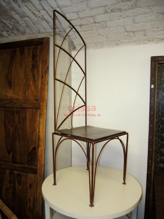 Sedia etnica cole0139 orissa milano for Sedie ferro legno