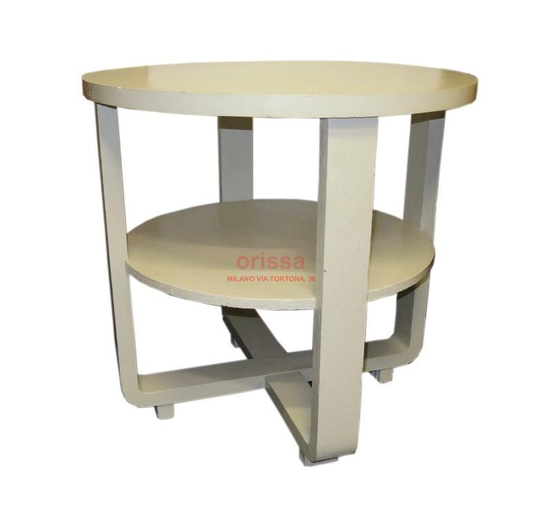 Tavolo rotondo bianco decapato e0141 orissa milano - Tavolo decapato ...