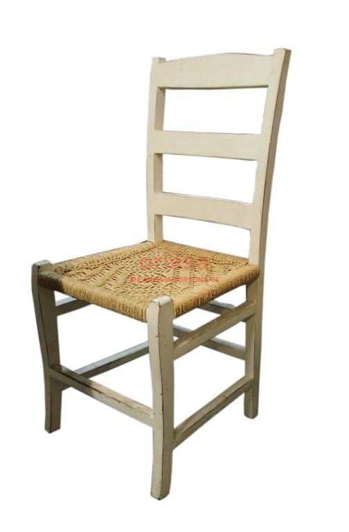 sedia legno bianca e paglia cole0143 orissa milano