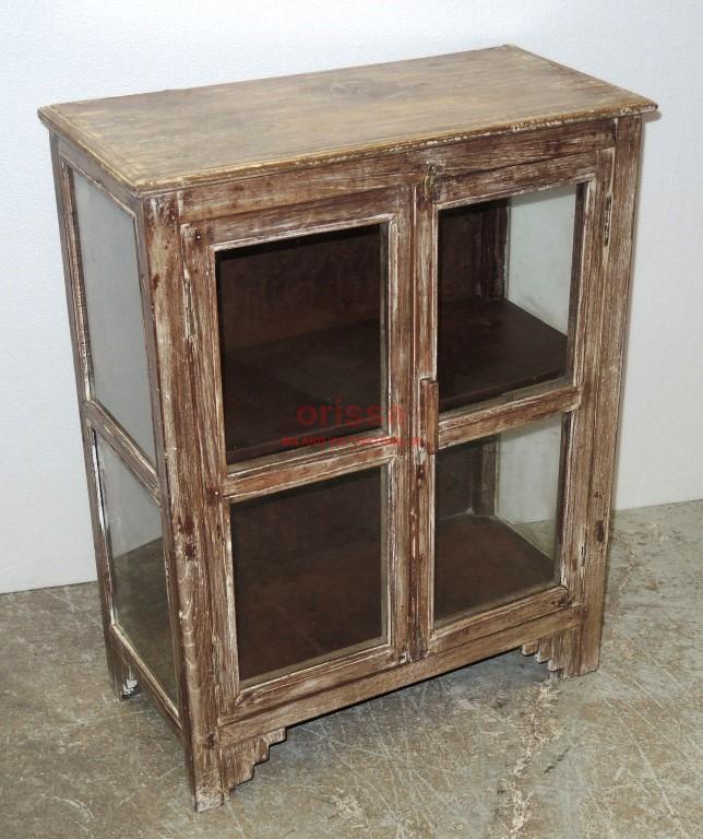 Vetrinetta in legno sbiancato f4169 orissa milano - Mobili in legno sbiancato ...