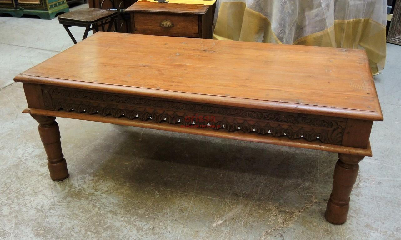 Tavolo in legno di teak intagliato f8106 orissa milano - Tavoli da fumo in legno ...