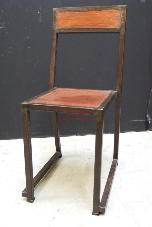 sedia ferro e legno f9037 orissa milano