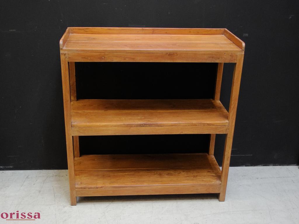 Scaffale legno di teak l2l28 orissa milano for Scaffale legno componibile