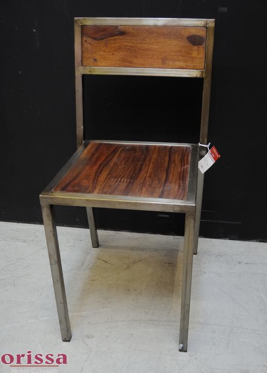 Sedia ferro e legno massello | L2P1 | ORISSA Milano
