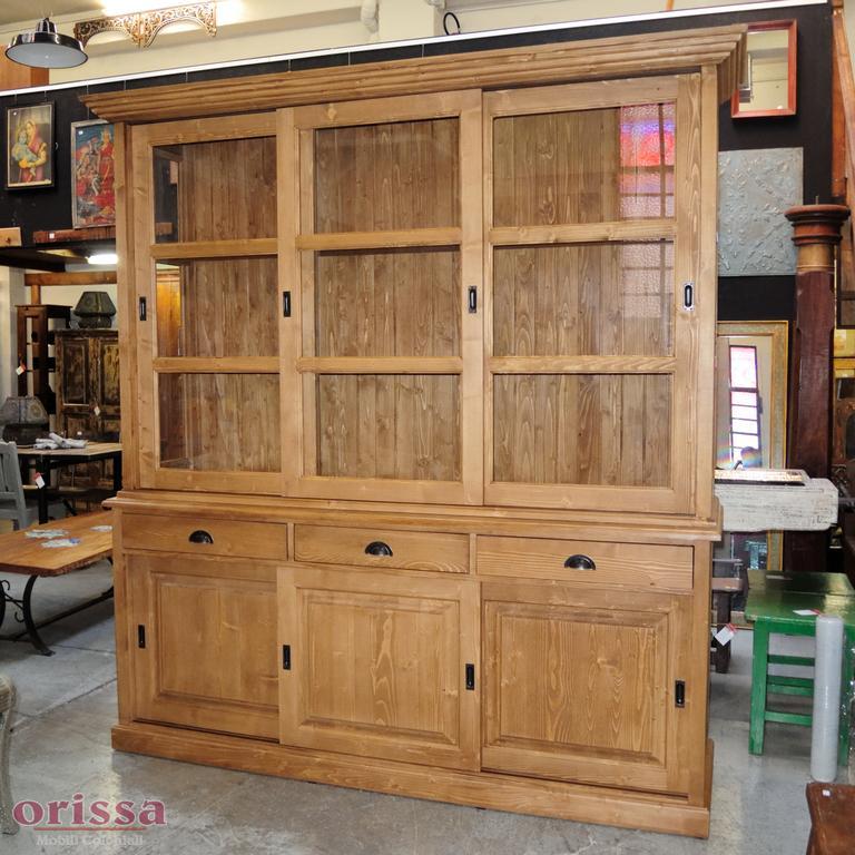 Credenza colorata legno massello ms010 orissa milano - Mobili scorrevoli ...