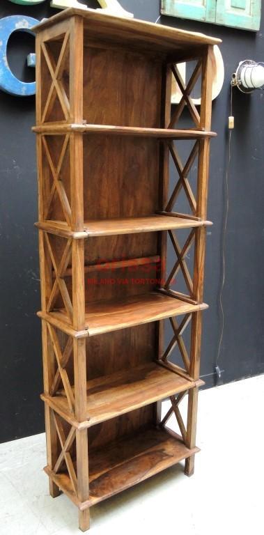 Scaffale 58x28x170 legno or026c orissa milano for Scaffale legno componibile
