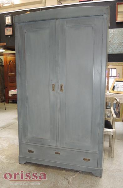Armadio due ante e cassetto grigio provenzale | U001 | ORISSA Milano