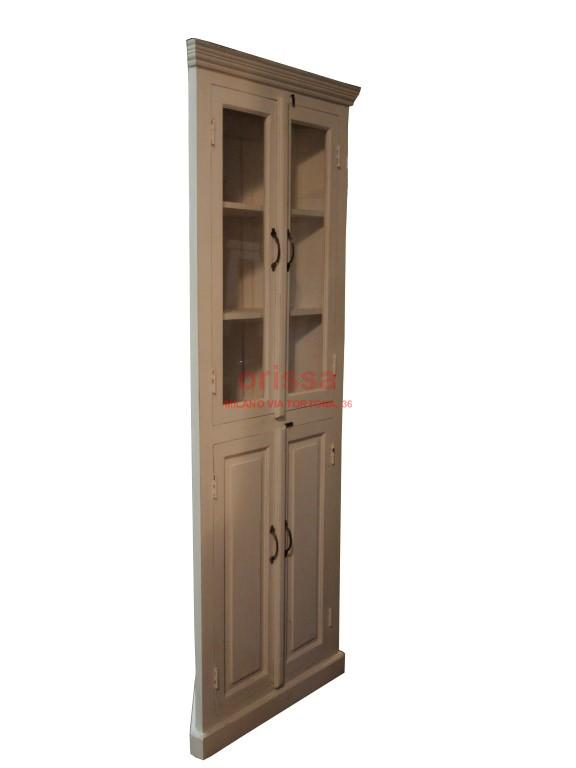 Credenza angolare bianco decapato or201 orissa milano - Cucina legno bianco decapato ...