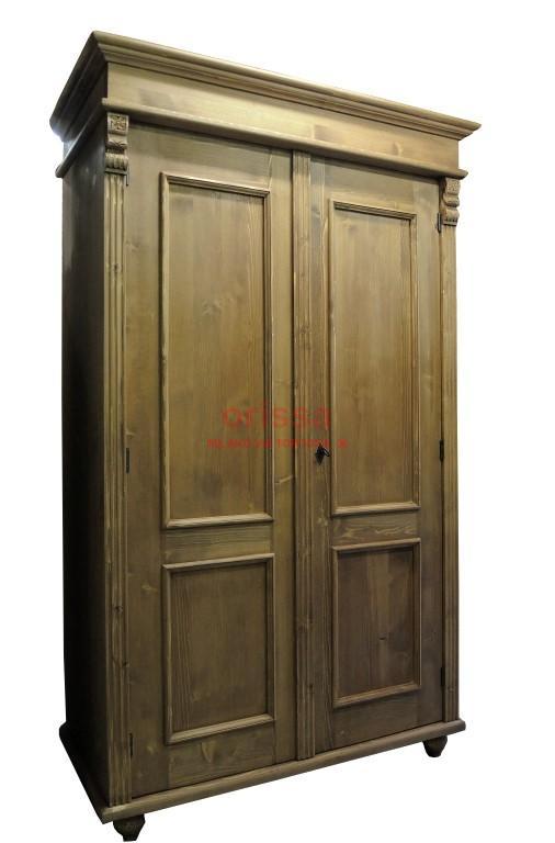 armadio legno massello bianco decapato, shabby chic, colorato ...