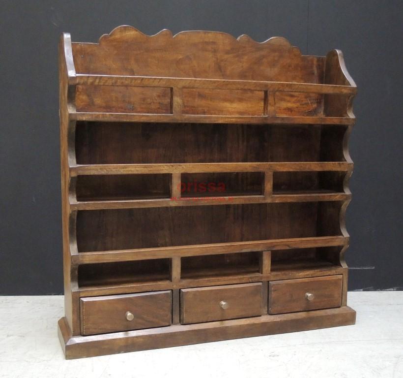 Piattaia in legno massello provenienza indiana stile - Mobili legno massello ...