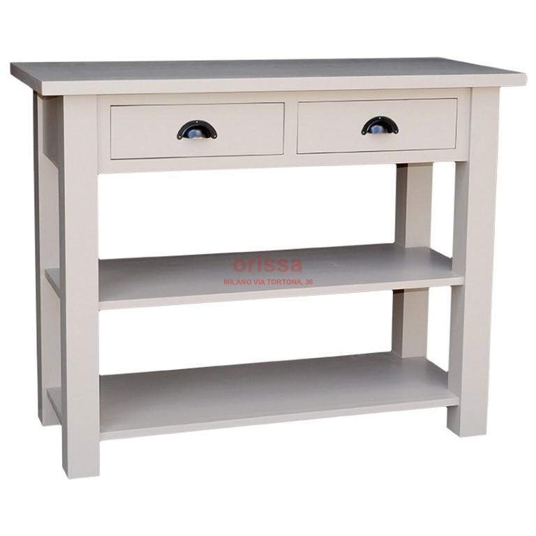 Consolle in legno massello con 2 cassetti oms141 for Consolle con cassetti