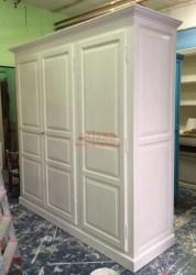 armadio 3 ante provenzale bianco decapato | MS230 | ORISSA Milano
