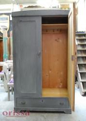 Armadio legno colorato grigio shabby | U002 | ORISSA Milano