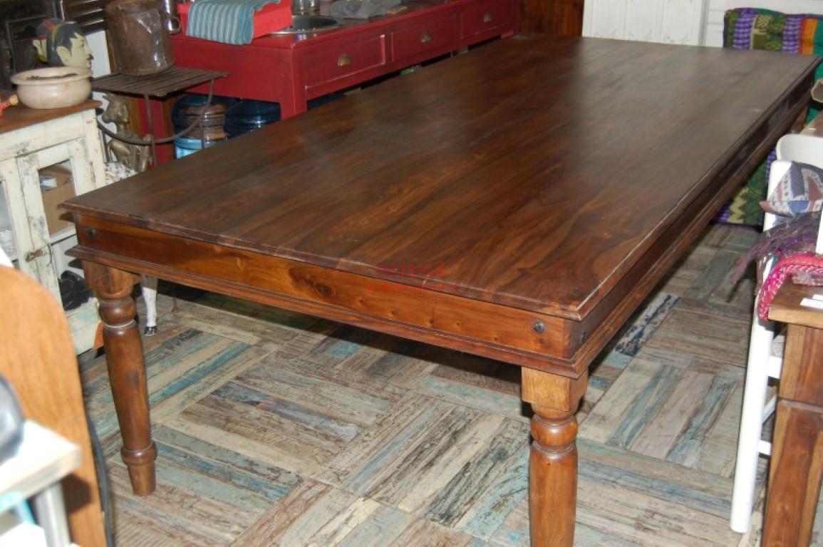 Tavolo da pranzo in legno massello di sheesham for Tavolo pranzo legno