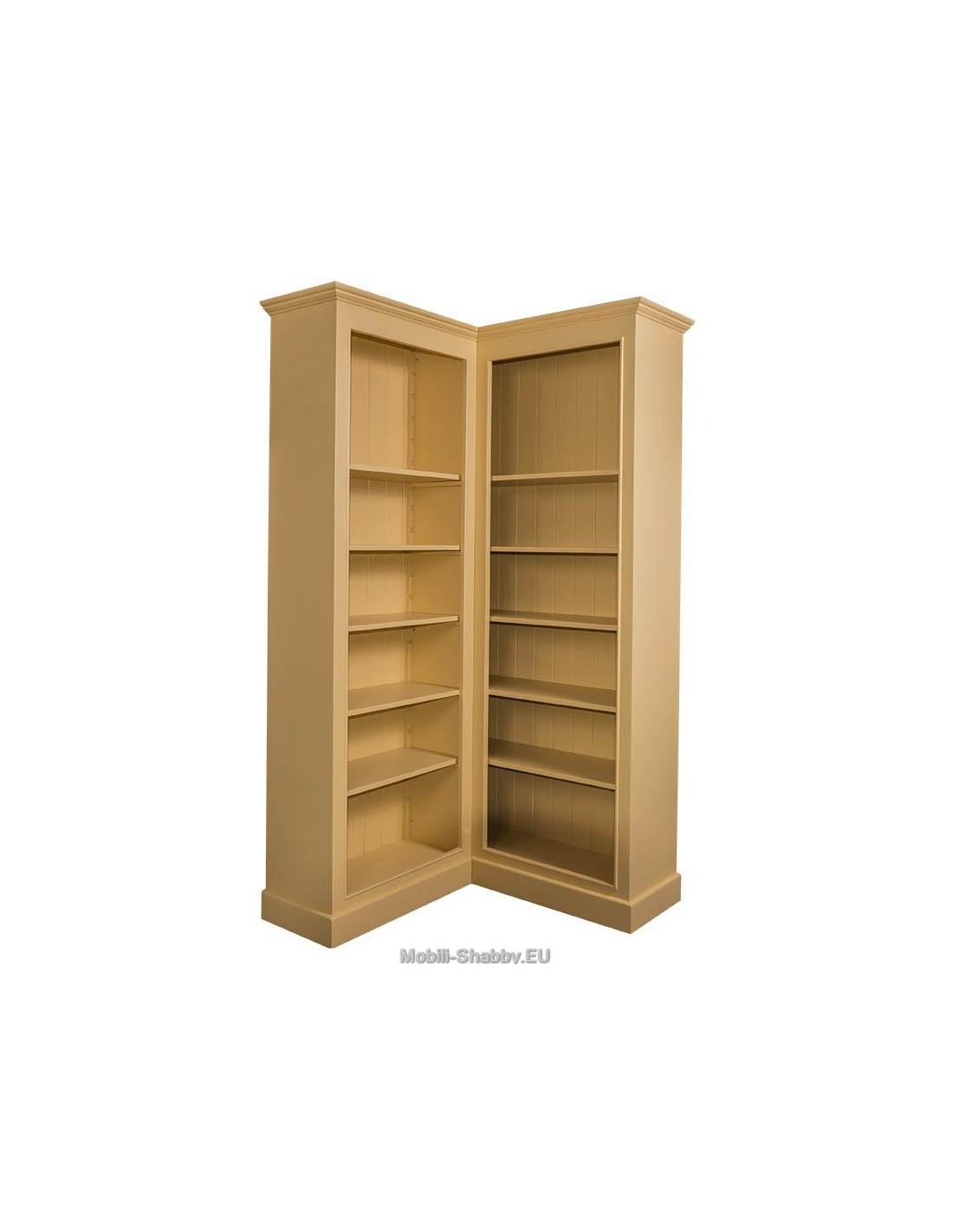 Libreria angolare provenzale colorata mensole regolabili for Libreria shop online