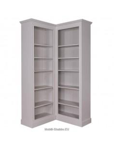 Libreria aperta angolare 108x108cm