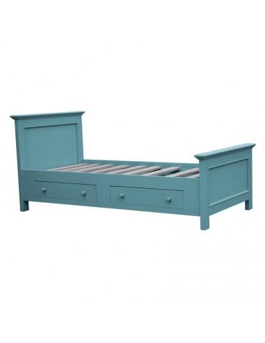 letto singolo in legno massello colorato stile provenzale MS1142D ...