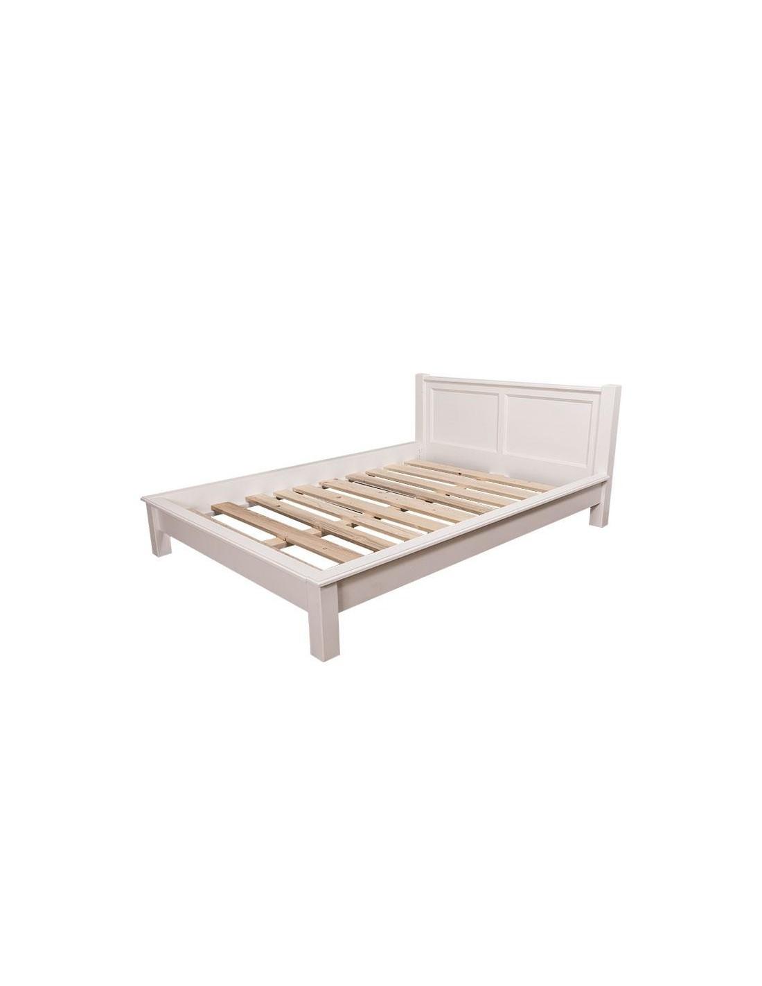 letto singolo in legno massello colorato stile provenzale MS613 ...
