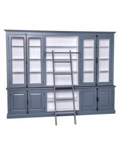 Libreria in legno massello 300cm