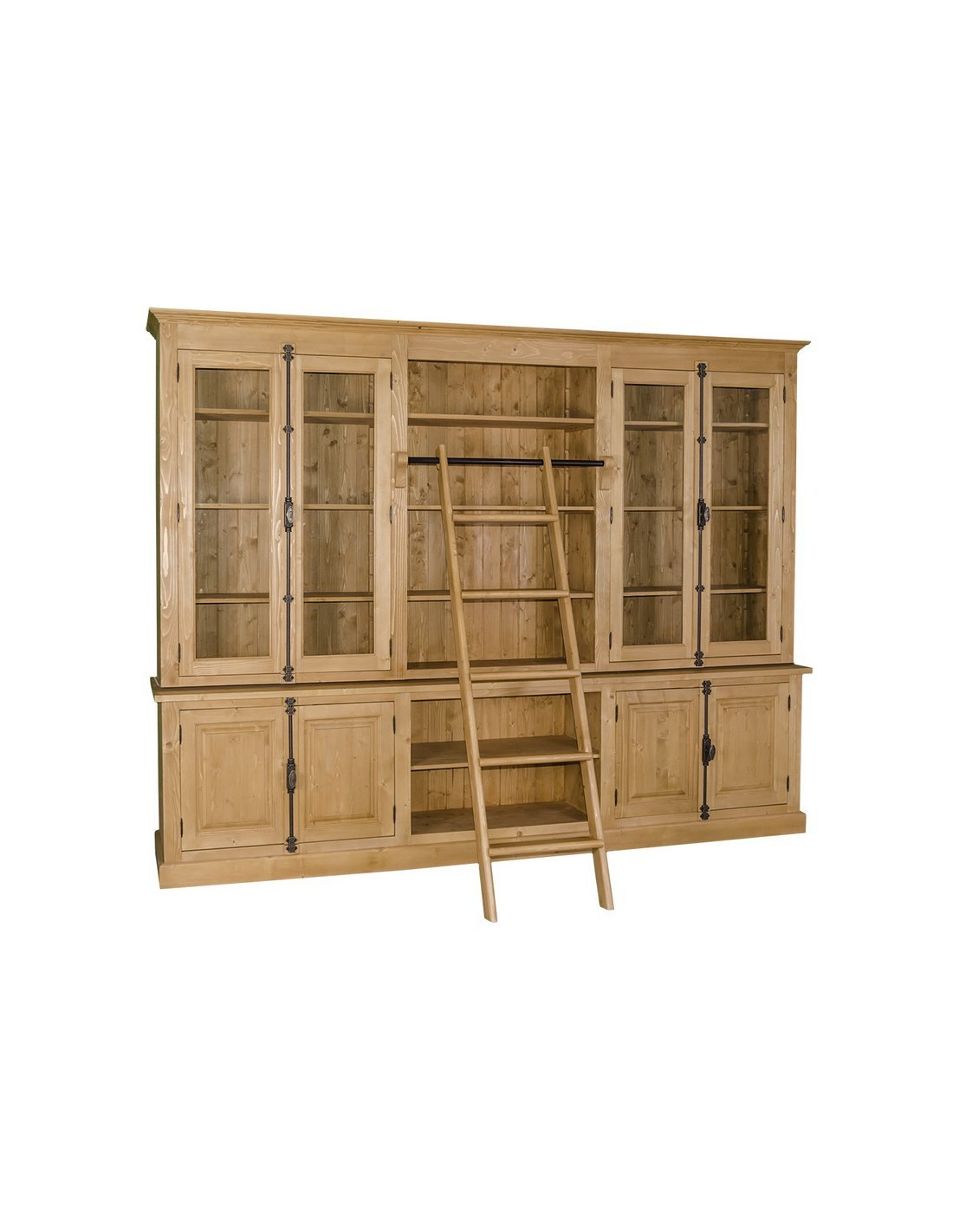 Biblioteca provenzale colorata legno massello MS439 - Orissa Milano