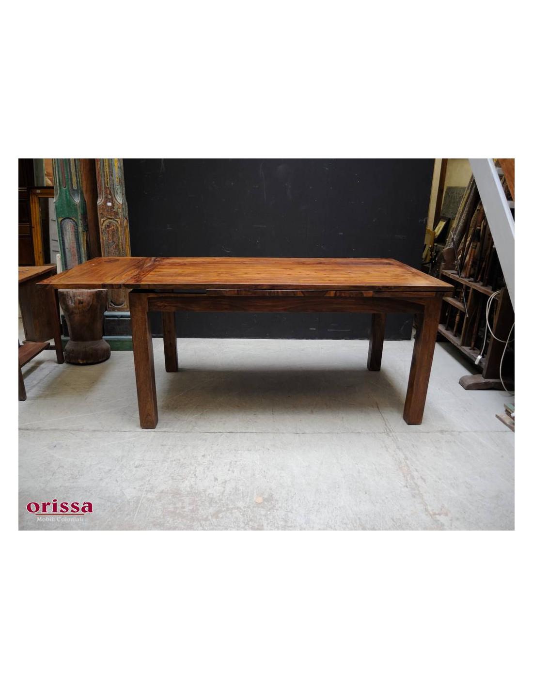 tavolo etnico allungabile sheesham HL77 - Orissa Milano