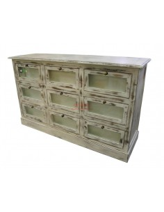 Imagén: Cassettiera bianco decapato shabby chic