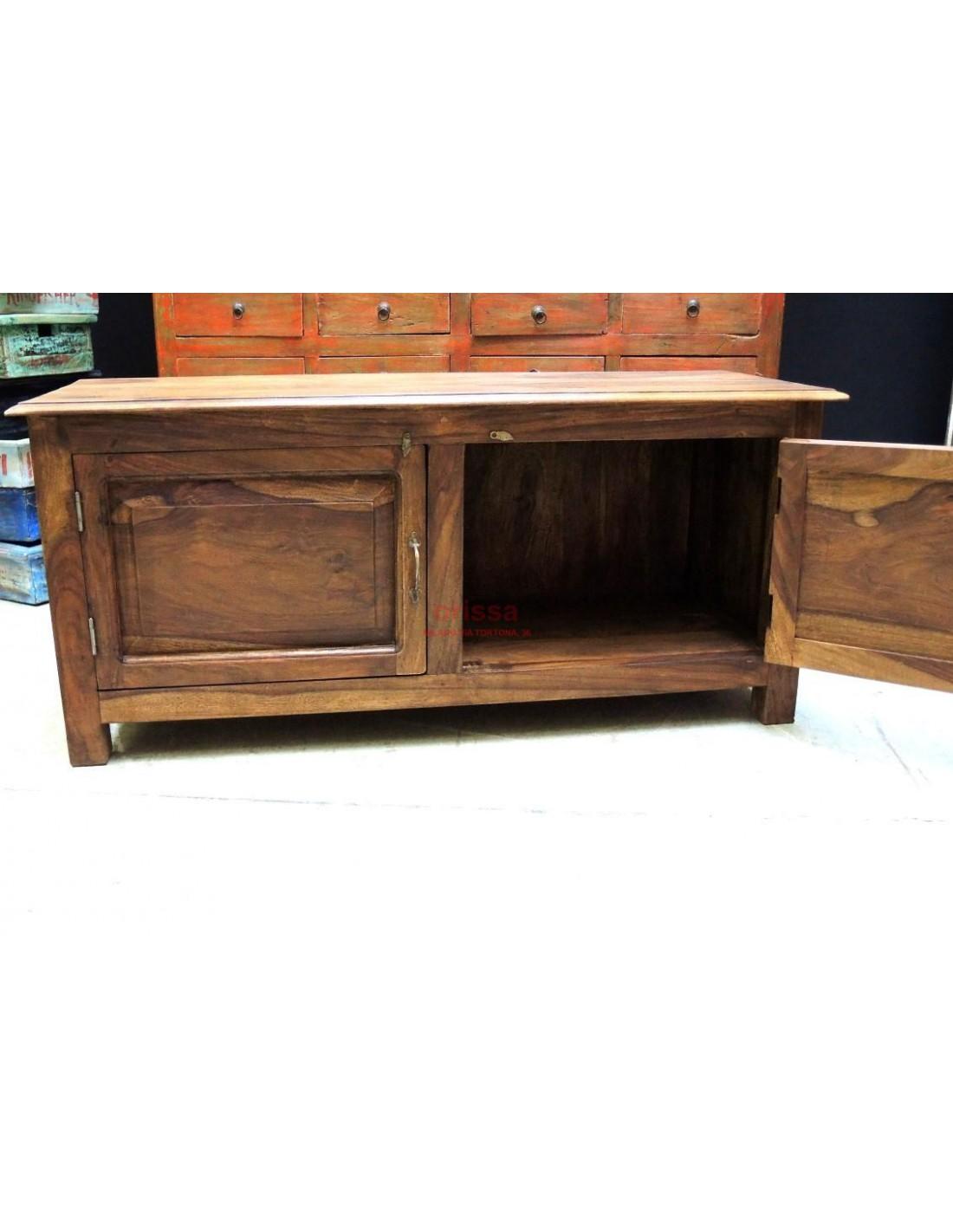 Mobile porta tv in legno massello or021 orissa milano - Mobile porta tv legno ...