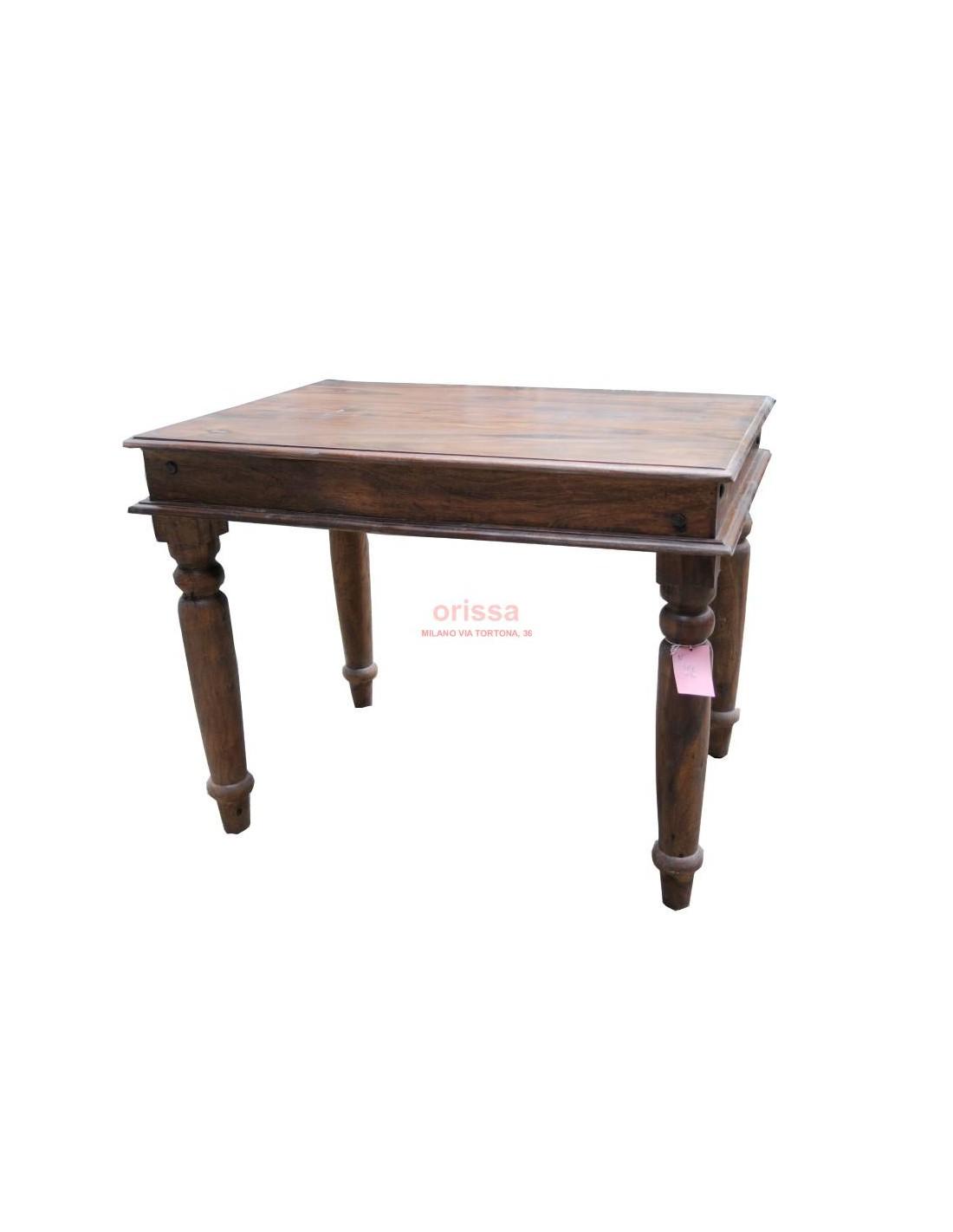 Tavolo in legno massello sheshame indiano da 100 a 200 cm OR044 ...