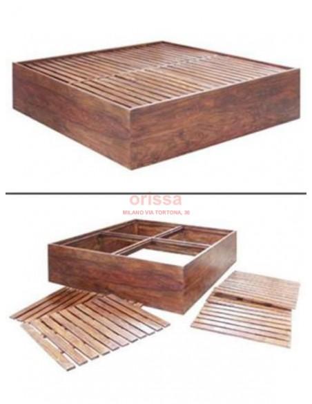 Letto in legno a cassone