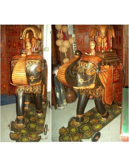 Scultura elefante legno massello