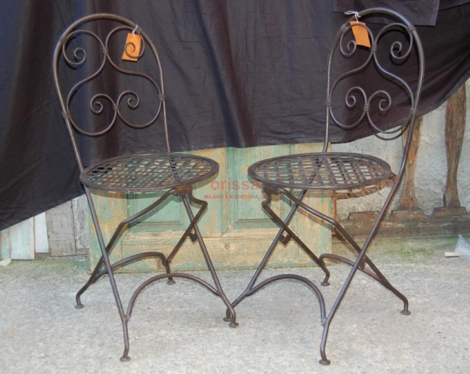 Sedie In Ferro Battuto Pieghevoli : Sedia ferro pieghevole or319 orissa milano