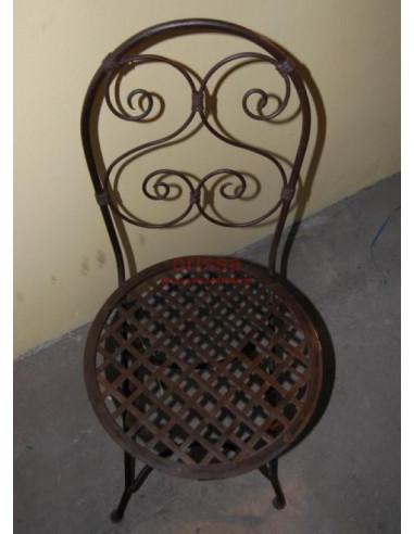 Sedie In Ferro Battuto Pieghevoli.Sedia Ferro Pieghevole Or319 Orissa Mobili Coloniali