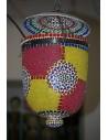 Lampada a sospensione con mosaico