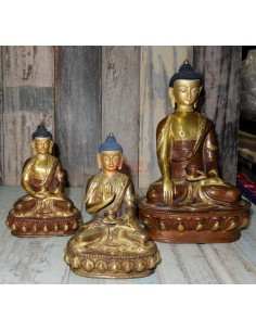 Imagén: Statue Buddha in Lega con faccia dorata