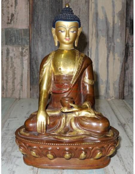 Statue Buddha in Lega con faccia dorata