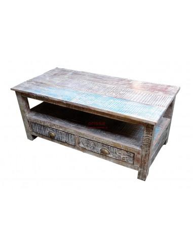 tavolino da salotto shabby con cassetti