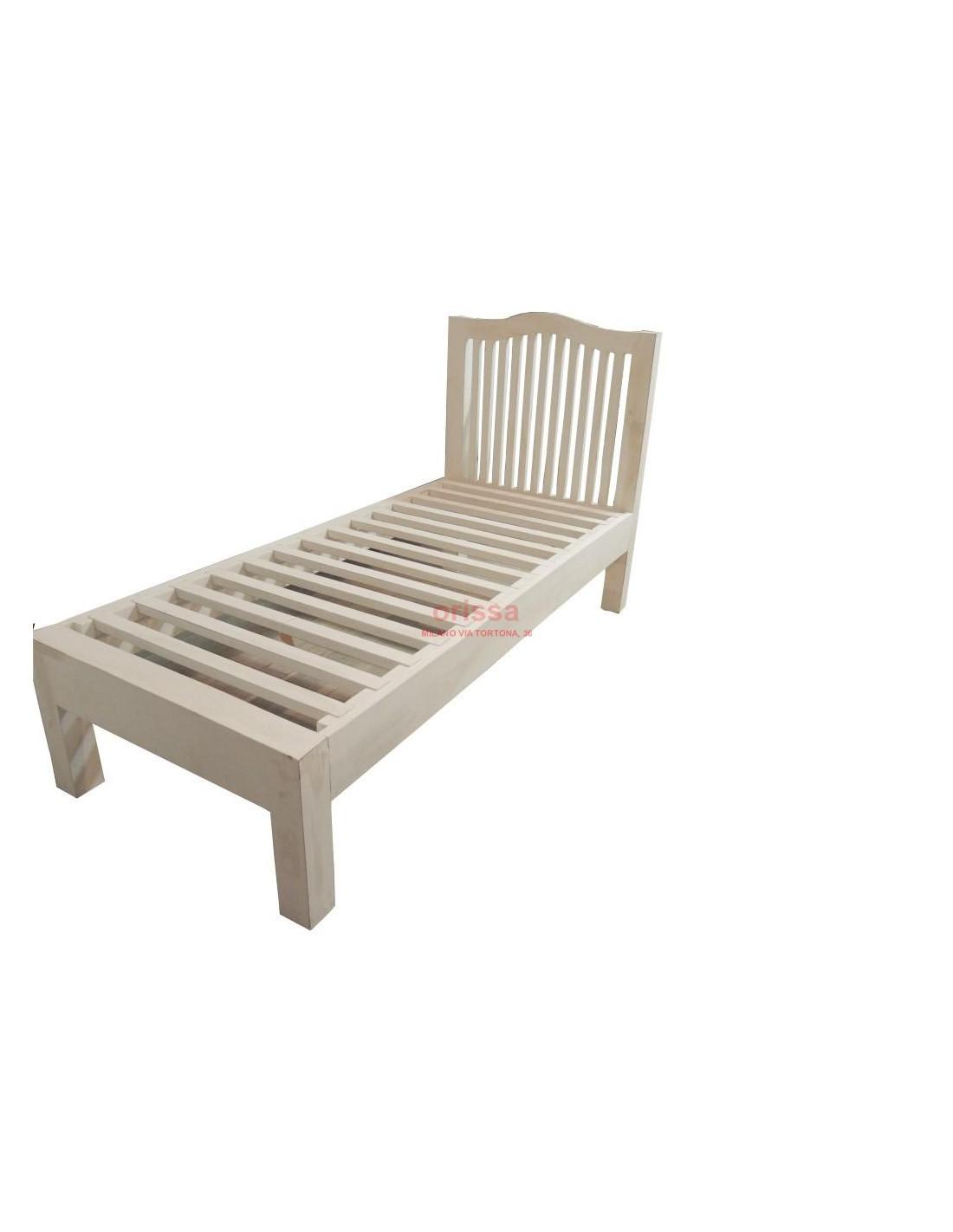 Letto singolo in legno massello con testata or135 orissa - Testata letto singolo ...