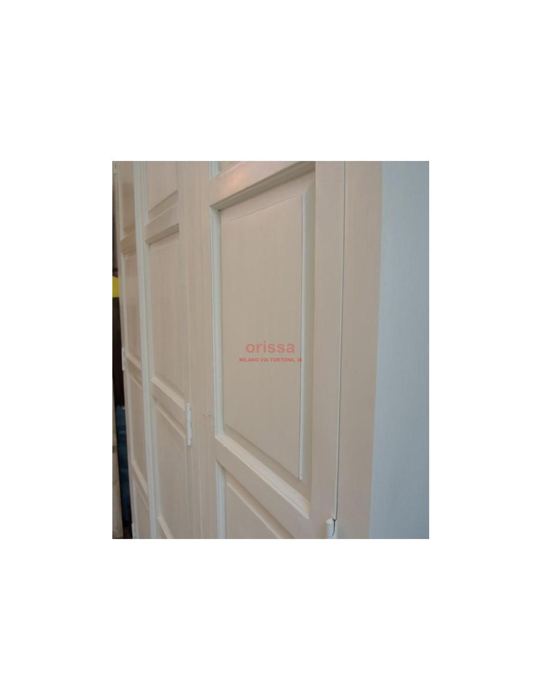 armadio tre ante bianco decapato OR321 - Orissa Milano